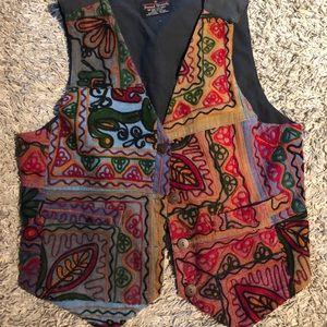Funky vintage embroidered vest